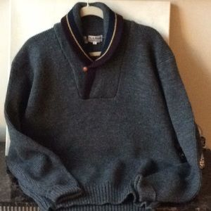 Vintage Wool Shawl Collar Sweater